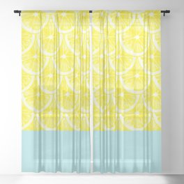 Zesty splice Sheer Curtain
