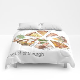 Slices of Pittsburgh Comforters
