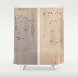 Jared and Alex Self-Portraits 2018 Shower Curtain