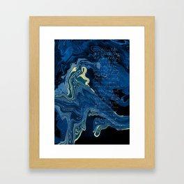 Lapislazuli and Gold #Society6 #decor #buyart Framed Art Print