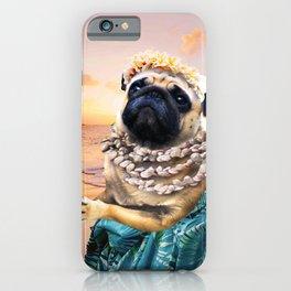 Cute Aloha Pug Hawaiian iPhone Case
