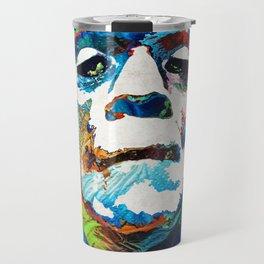 Frankenstein Art - Colorful Monster - By Sharon Cummings Travel Mug