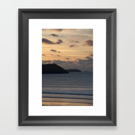Evening Skies Over Polzeath Framed Art Print
