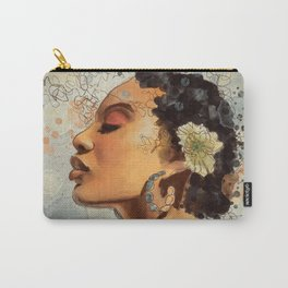 Watercolor whimsical digital portrait painting Carry-All Pouch
