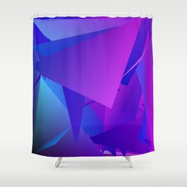 Rhapsody in Blue 3 Shower Curtain