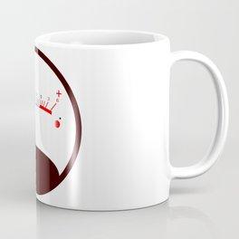 Round VU Meter No Signal Coffee Mug
