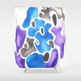 170623 Colour Shapes Watercolor 7 | Abstract Shapes Drawing | Abstract Shapes Art |Watercolor Painti Shower Curtain