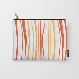 Orange Crooked Lines Pattern Carry-All Pouch