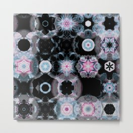 stars mandala pattern Metal Print