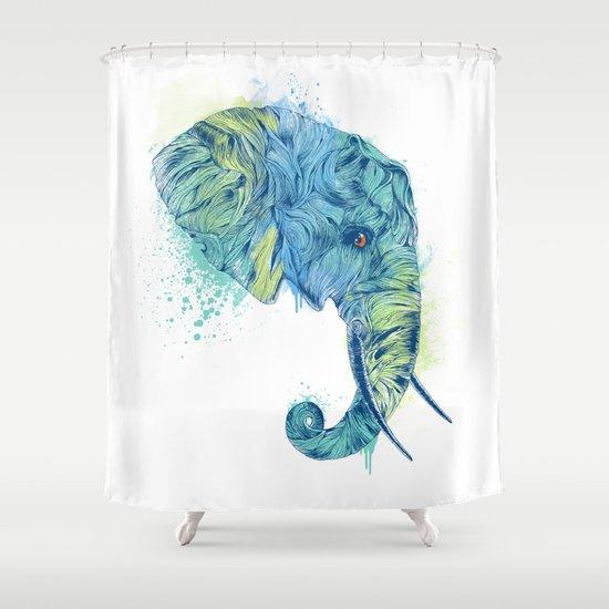 Elephant Head II Shower Curtain