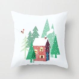 Happy Winter Throw Pillow