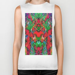 Red colour reaction Biker Tank