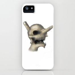Skull and fingers iPhone Case