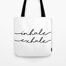 PRINTABLE Art,INHALE EXHALE,Fitness Poster,Workout Print,Gym Decor,Motivational Print,Inspirational Tote Bag