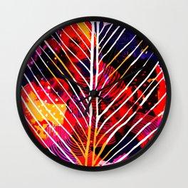Wild Leaf Wall Clock