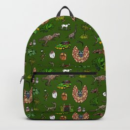 Jurassic pattern Backpack