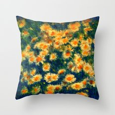 Painted Daisies Throw Pillow