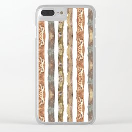 earth stripes Clear iPhone Case