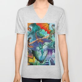 Wings of fire dragon Unisex V-Neck