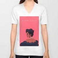 bubblegum V-neck T-shirts featuring Bubblegum by DennisARTWORKS