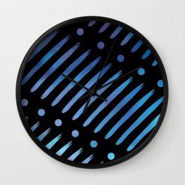 Blue Dots & Dashes Wall Clock