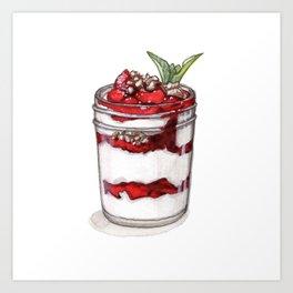 Desserts: Yogurt Parfait Art Print