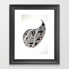 Paisley Geo Melee Framed Art Print