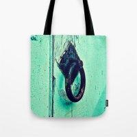 door Tote Bags featuring Door by Mr and Mrs Quirynen