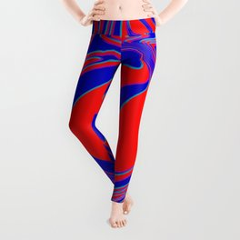 thrust, red and blue Leggings