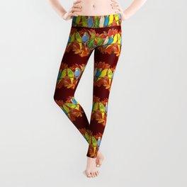 Colorful budgies pattern Leggings