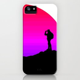 Hikers Sunset iPhone Case