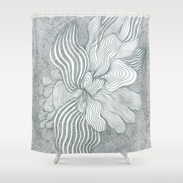 Abstact Flower Shower Curtain