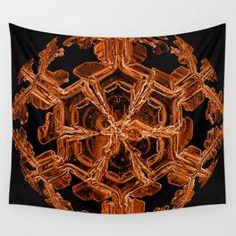 Orange Sexy Snow Wall Tapestry