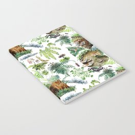 Mossy Forest Pattern White Notebook