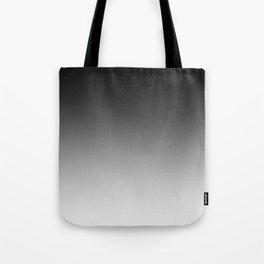 Black to White Horizontal Linear Gradient Tote Bag