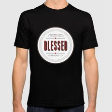 Blessed Black Mens Fitted Tee MEDIUM