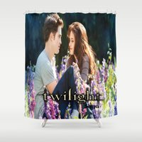 saga Shower Curtains featuring Twilight Saga by ezmaya
