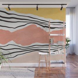 Modern irregular Stripes 01 Wall Mural