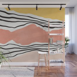 Modern irregular Stripes 01 Wall Mural