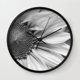 The Flower (Black and White) Wall Clock
