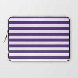 Purple and white university clemson alumni team sports football college Laptop Sleeve