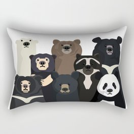 Bear family portrait Rectangular Pillow