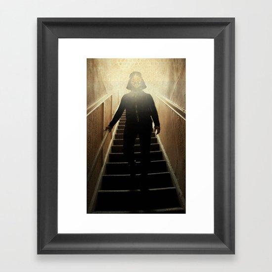 Stairway to the dark side _ vader descending  Framed Art Print