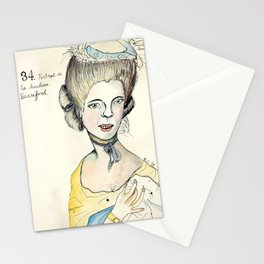 Portrait of the Duchess of Beauford Stationery Cards