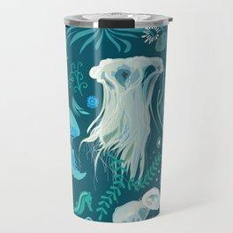 Aqua pattern Travel Mug