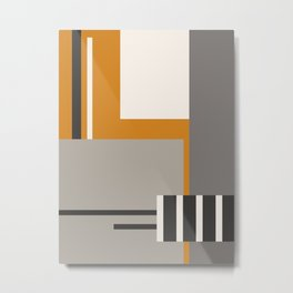 PLUGGED INTO LIFE (abstract geometric) Metal Print
