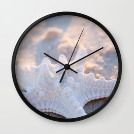 Knobby Starfish in the Sand Wall Clock