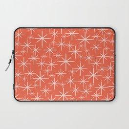 Midcentury Mod Retro Starbursts in Blush and Coral Orange  Laptop Sleeve