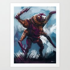 Quad armed mech Art Print
