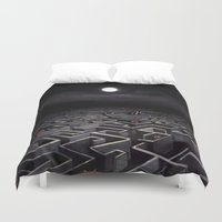 labyrinth Duvet Covers featuring Labyrinth  by Richard J. Bailey